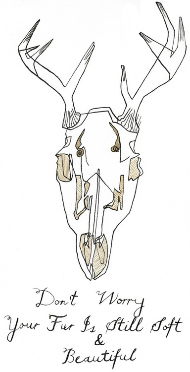 Deer In Black And Gold - Image 0