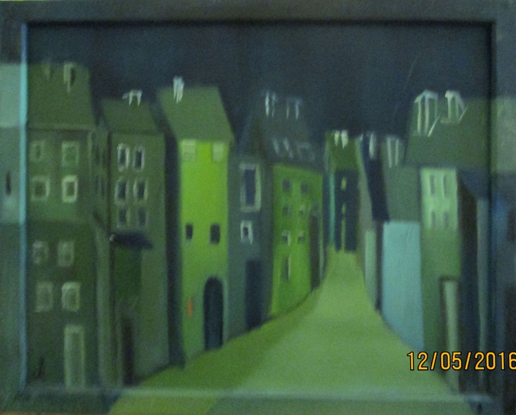 Side Alley in Blue and Green - Image 0