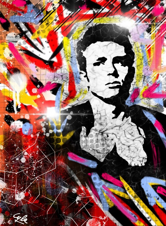 James Dean | 2012 | Digital Painting on Paper | High Quality | Limited Edition of 10 | Simone Morana Cyla | 30 X 40 cm | - Image 0