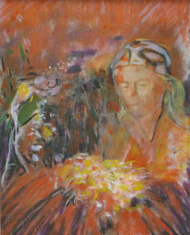 Woman with Flowers -