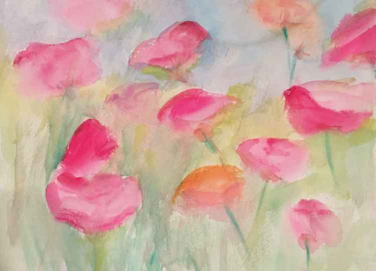 Watercolored Roses -