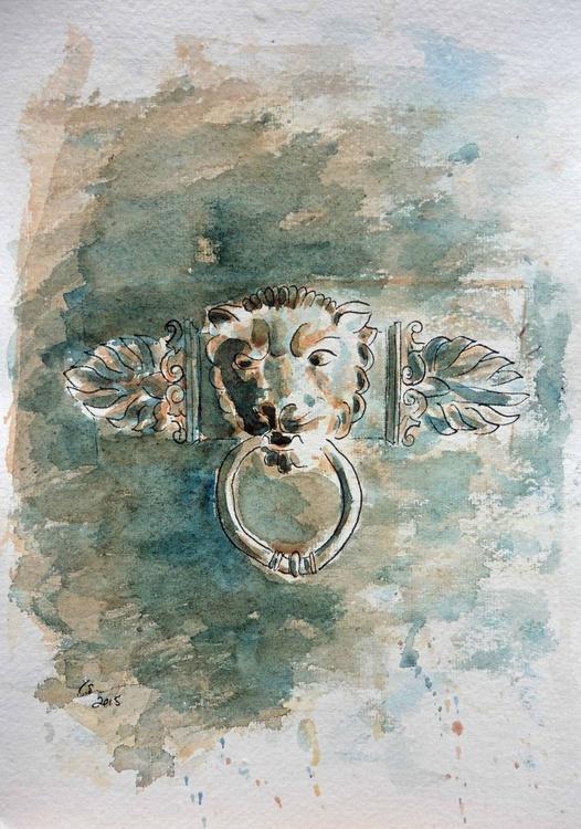 Lion Head Door Knocker - Image 0