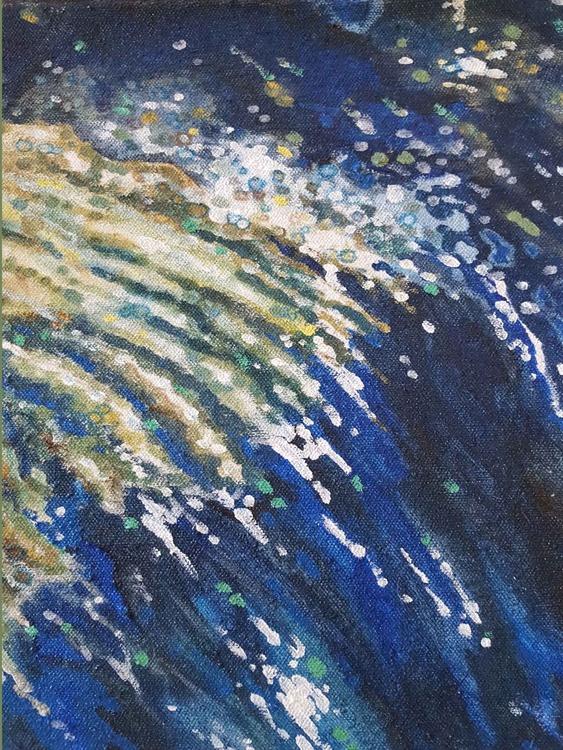 Milky Way Reflecting Mini Original Oil Painting 11 x 16: - Image 0