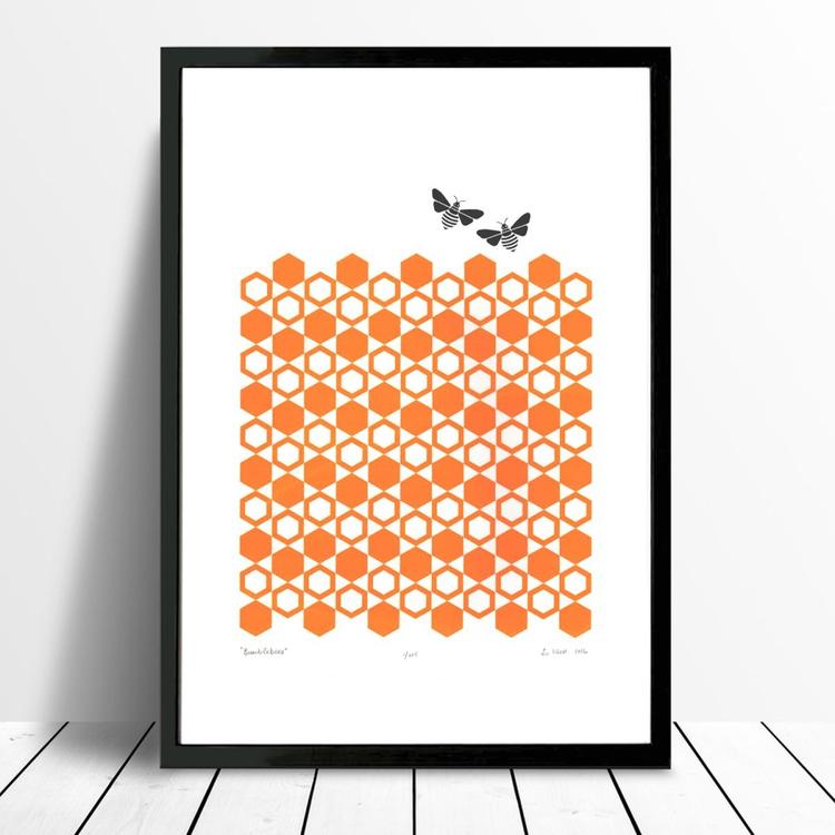 Bumblebees - Framed - FREE UK Delivery - Image 0
