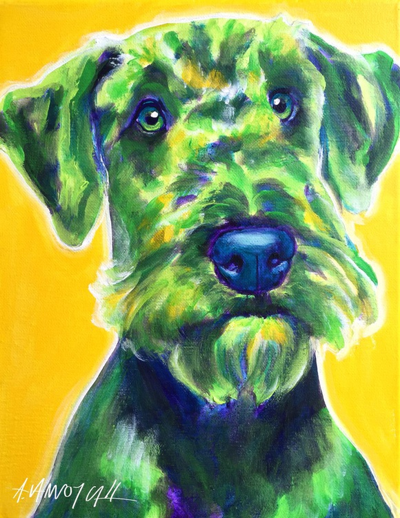 Apple Green Airedale Terrier - Image 0