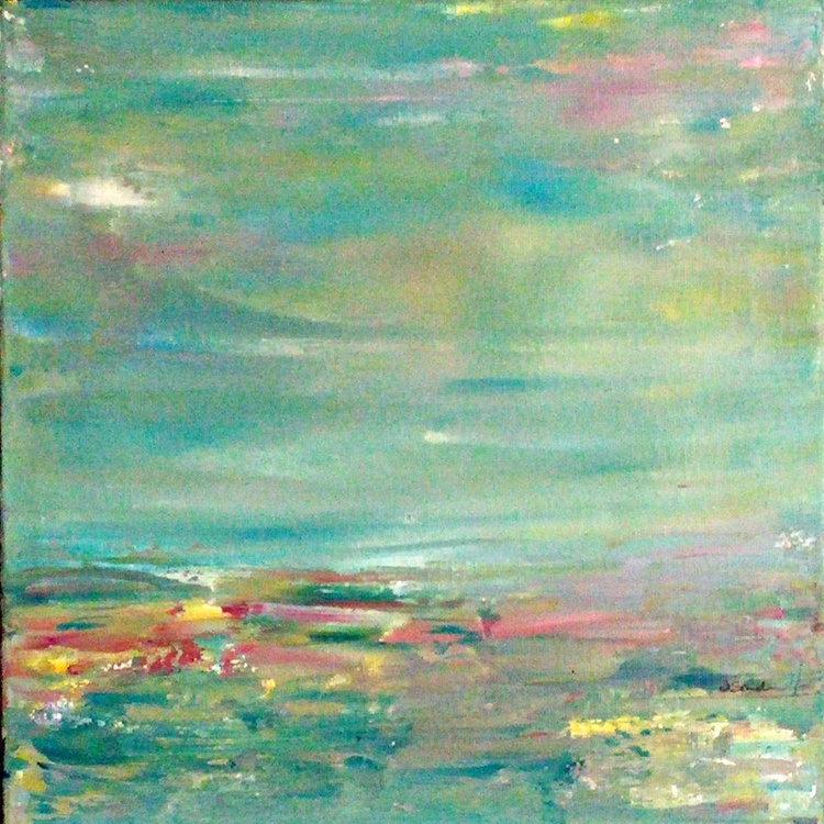 """Softness // Abstract Landscape // 12x12"""" Canvas - Image 0"""