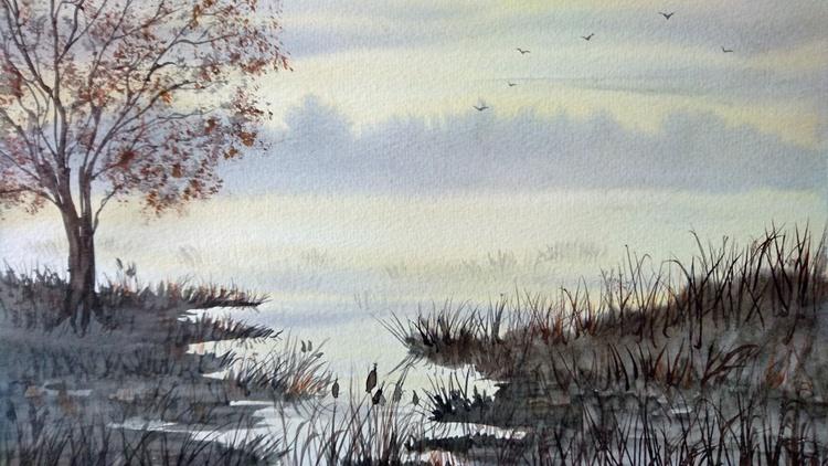 misty autumn morning 2 - Image 0