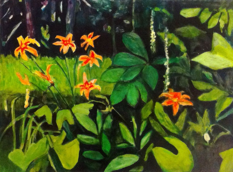 Tiger Lilies in the Garden - Image 0