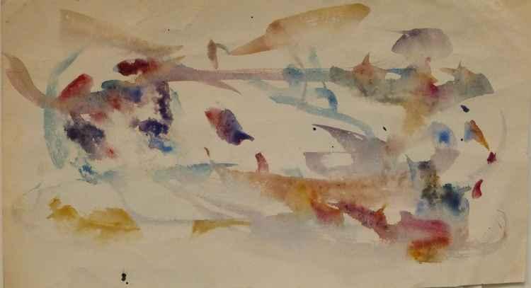 Stormy sea, 28x15 cm