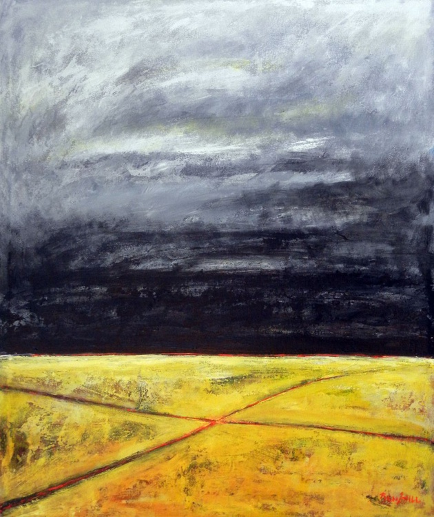 Crossroads Yellow Grey - 36x30 - Image 0
