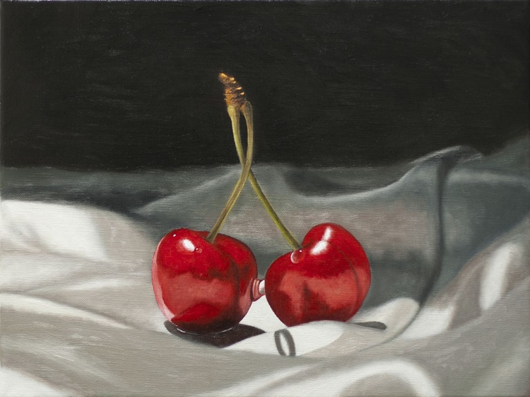 A Pair of Cherries and Silk - Image 0