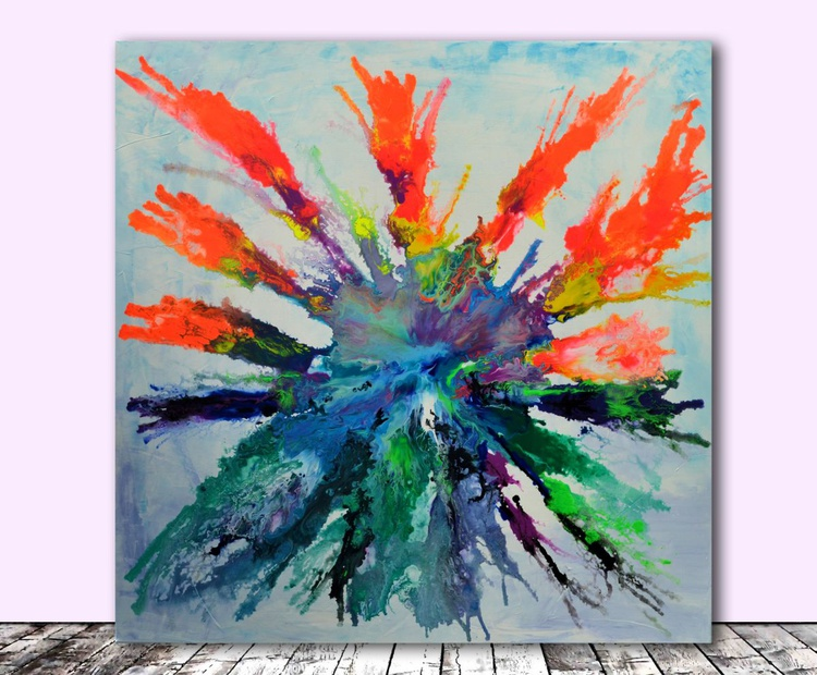 Air Pandora - XL Big Painting, Large Abstract, FREE SHIPPING FOR GERMANY - Large Painting - Ready to Hang, Office Hotel and Restaurant Wall Decoration - Image 0
