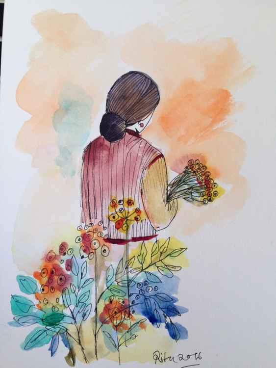 After my gardening -