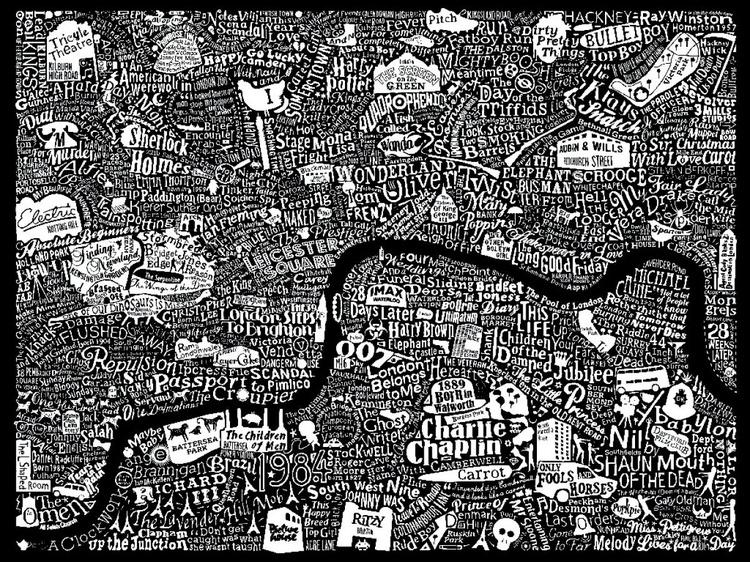 LONDON FILM MAP (black) - Image 0