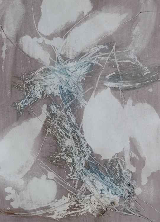 Velocity #6 , Acrylic on paper 29x41 cm -