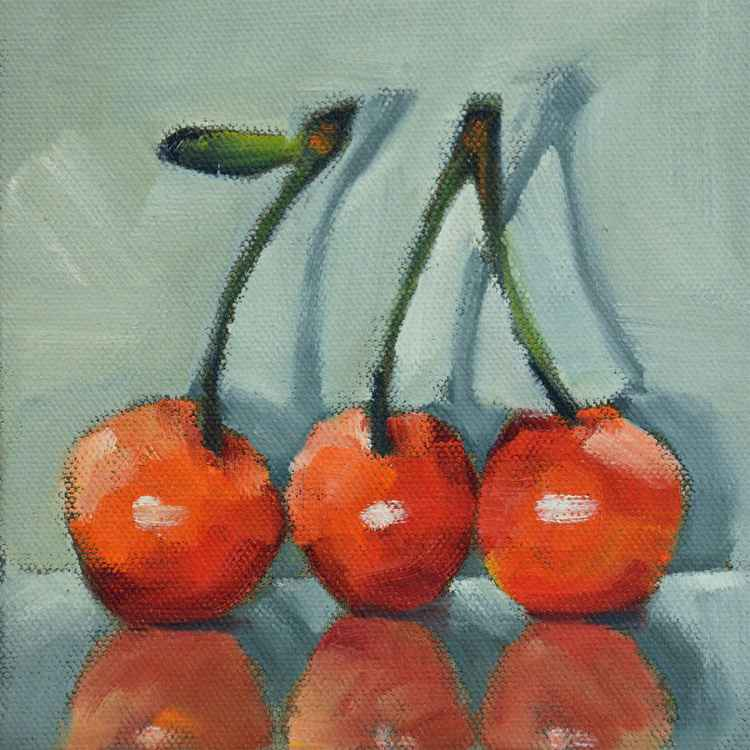 Three Red Cherries -