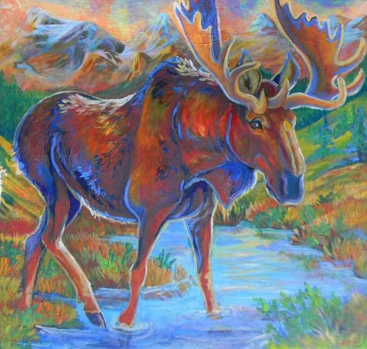 Moose crossing -