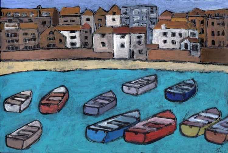 High Tide, St Ives harbour.