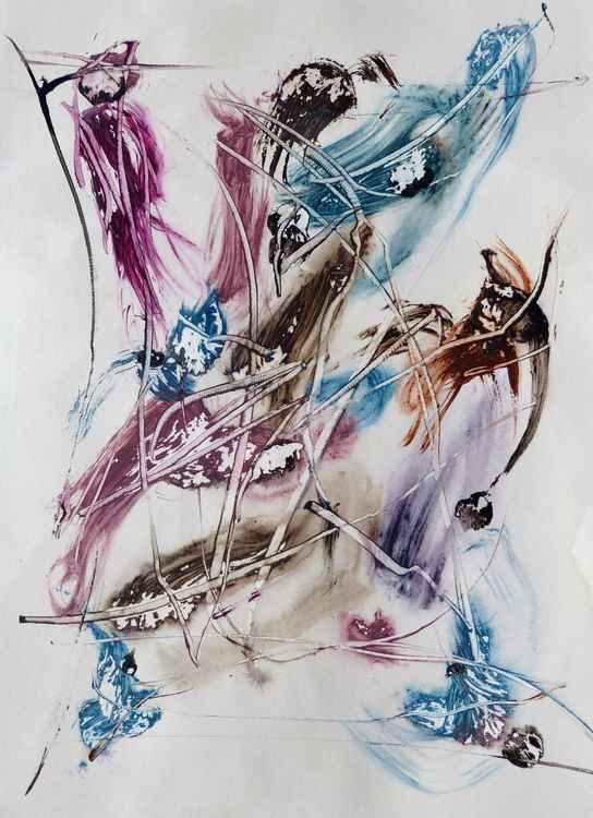 Velocity #1 , Acrylic on paper 29x41 cm -