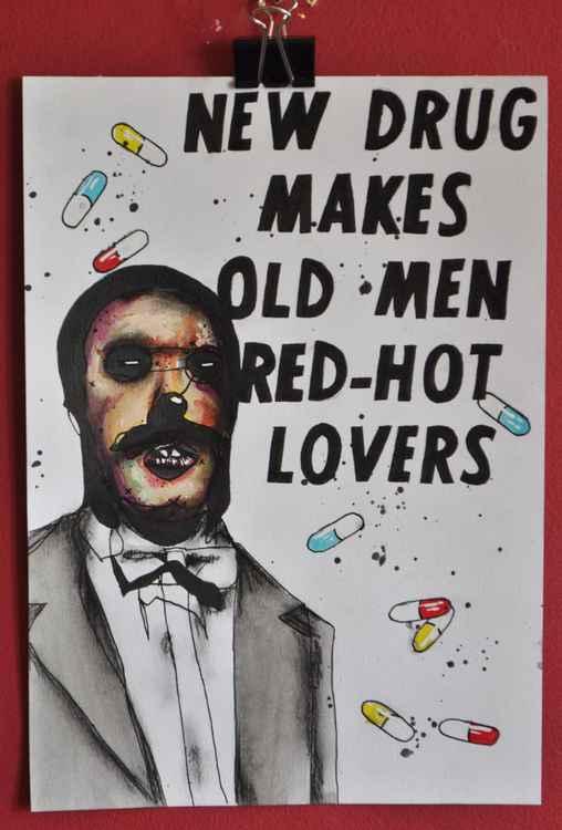 NEW DRUG MAKES OLD MEN RED HOT LOVERS
