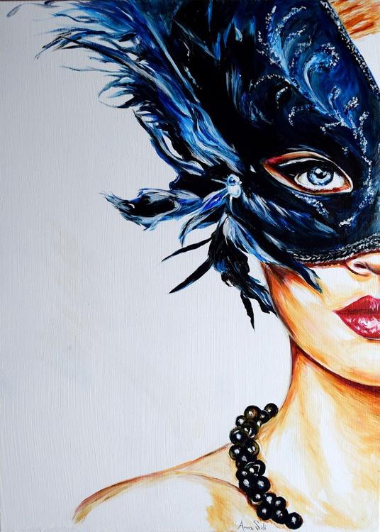 Feathers / 70 cm x 50 cm modern fashion Art - Image 0