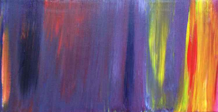 """ hazard ""Abstract ( miniature panoramic size )38 x 20 cm -"