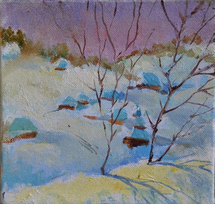 Winter landscape in the Carpathians 2 (Village) - Image 0