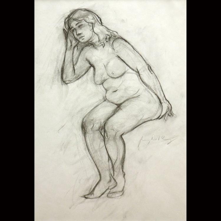 (Untitled) female nude sketch - Image 0