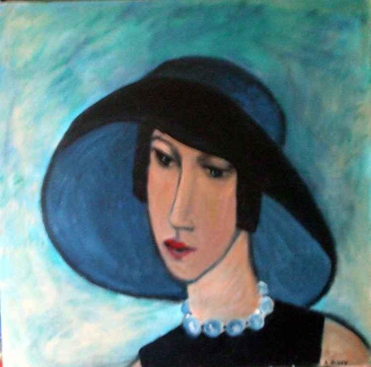 blue necklace -
