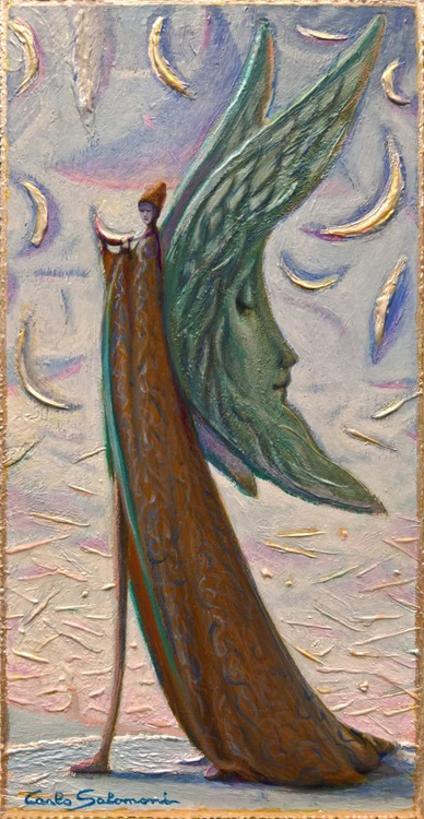 ANGEL OF THE MOONS, IN DAYLIGHT - ( ready to hang ) - Image 0