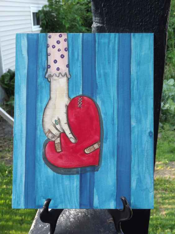 It Is Still a Good Heart Original Jo Potocki Painting