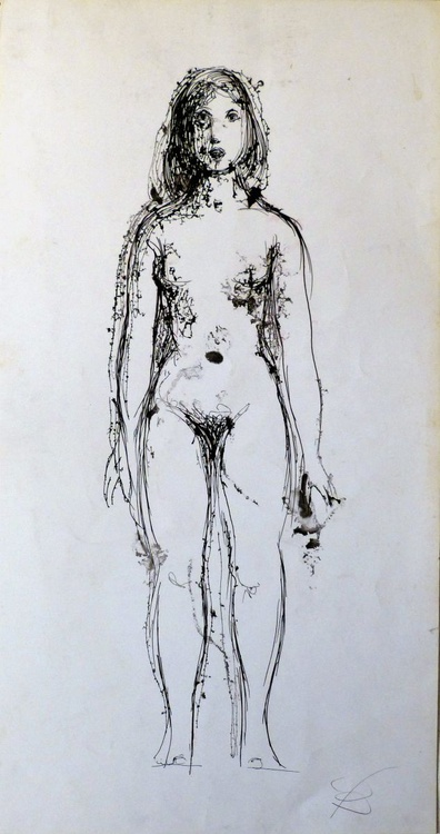 Standing Nude 25x48cm - Image 0