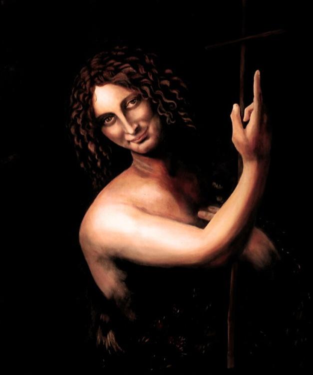 """St. John the Baptist"" after Leonardo Da Vinci - Image 0"