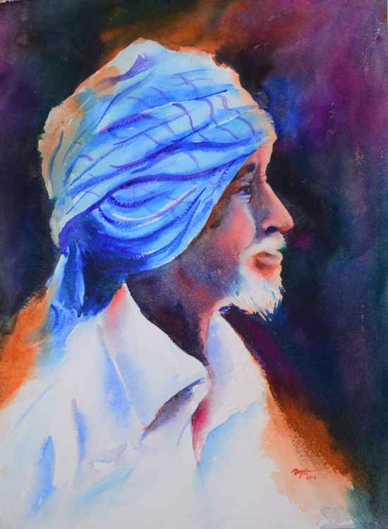 Farmer in Blue turban -