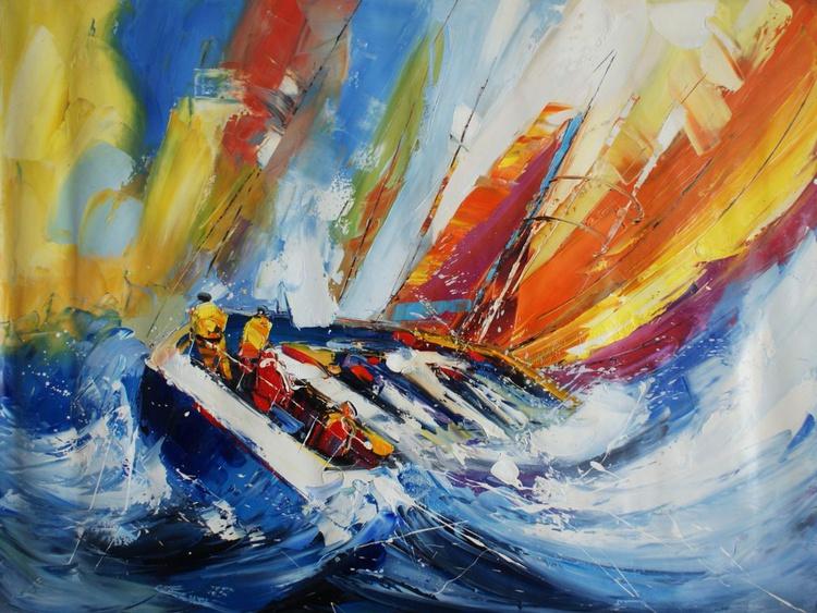"""Abstraction No. 35 """"Ship 1"""" . - Image 0"""