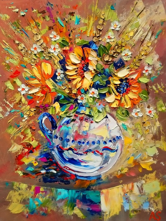 Bouquet with a small sunflowers - Image 0