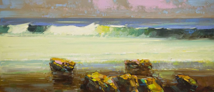 Pacific Ocean South West Original oil Painting Large Size One of a Kind - Image 0