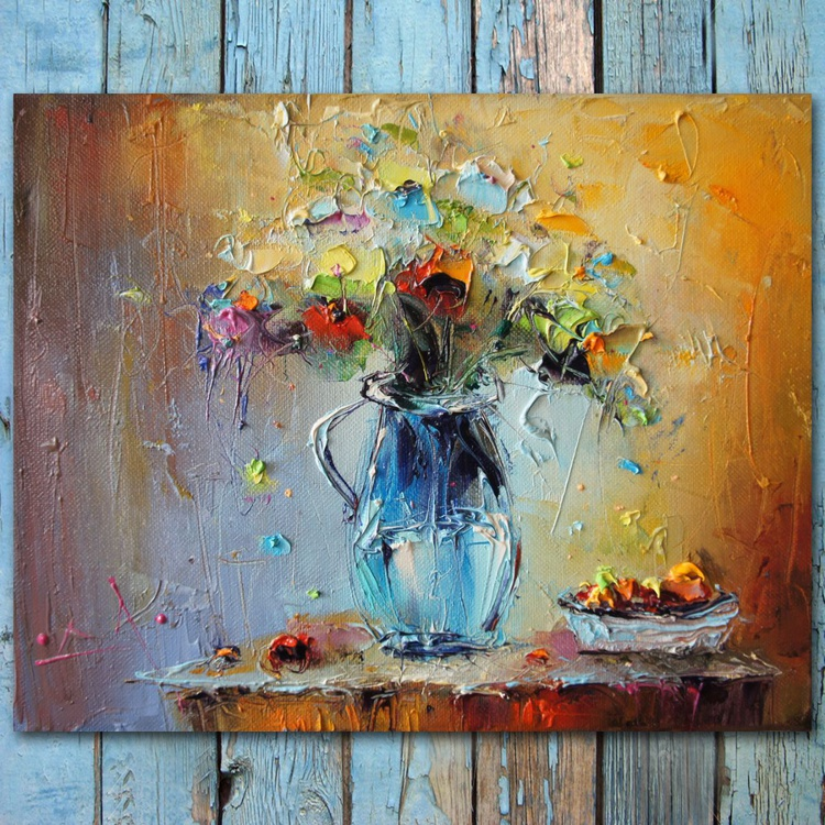 Colorful composition - 5, Still Life Painting, Free Shipping - Image 0