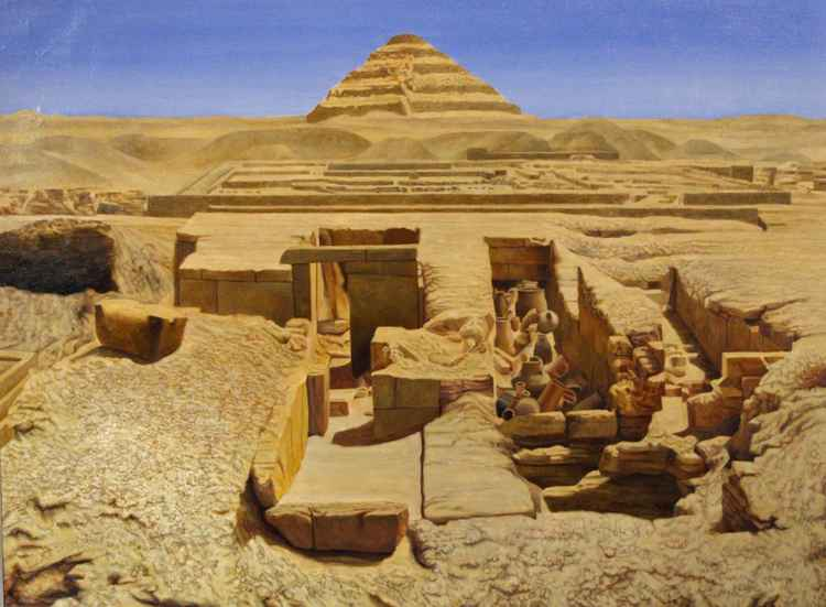 Step Pyramid at Saqqara, Egypt -