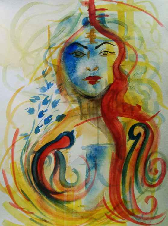 Lady with Birds -