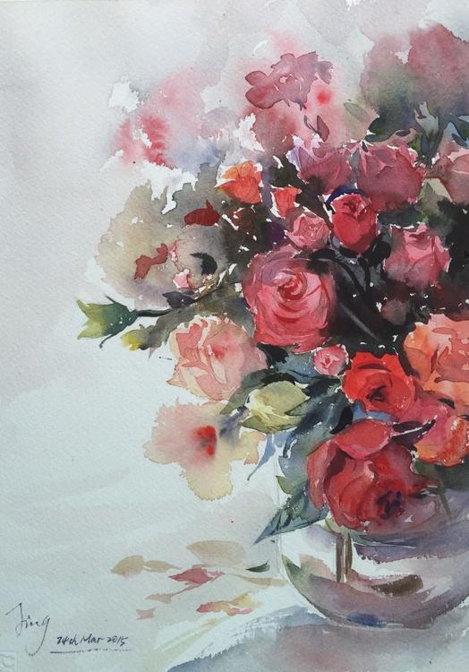 Vase of roses 4 - Image 0