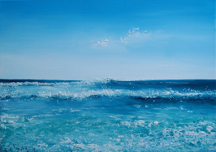 Seascape Painting - Summer Waves - Image 0