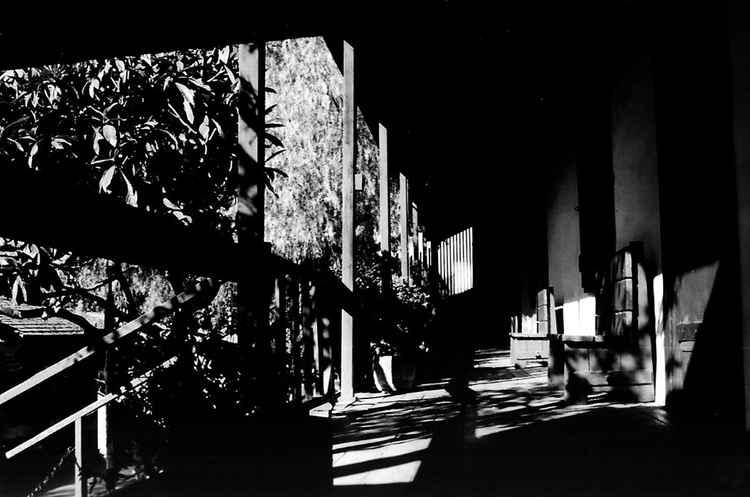 Avila Adobe Porch, Olvera Street, c. 2000 • Victor Herminio Lopez • Matt Print