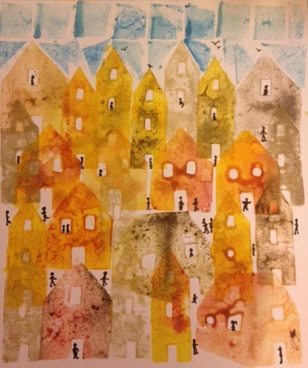 Golden Tumbling Houses - Image 0
