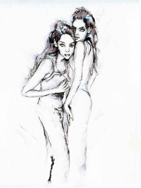 Twins / Fashion in Ink -