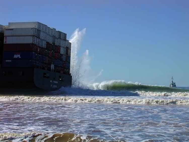 Grounded Container Ship -