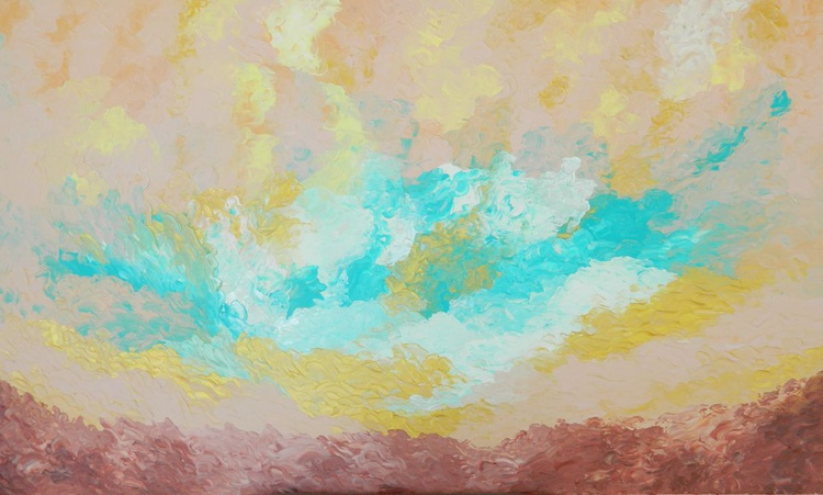 Fulfillment - Original, unique, large modern abstract fine art painting with texture - Image 0