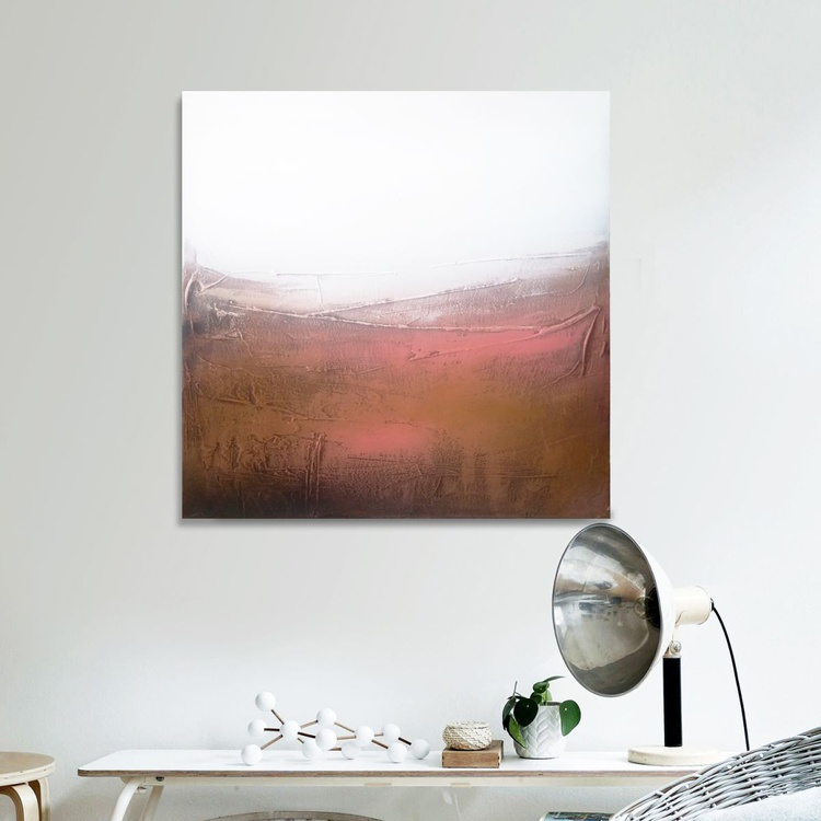Hard landscape Textured abstract painting - Image 0