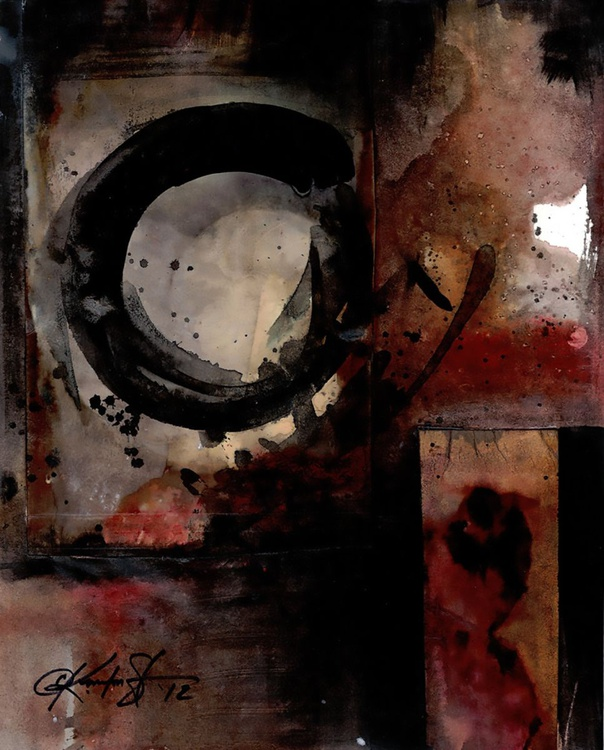 Abstract Painting - Enso, Zen Circle - Being Within Series.. Enso . No.3 - Image 0