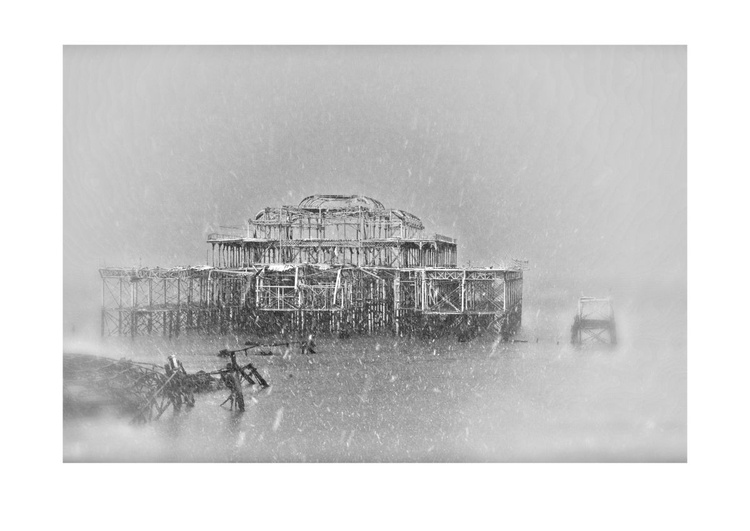 The Old West Pier, Brighton, Sussex, in the Snow #1 - Image 0